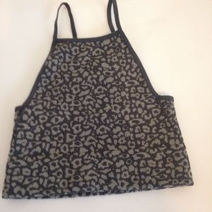 Free People Animal Print Top and Shorts NWOT